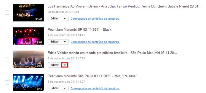 Abra o menu de edição do vídeo escolhido (Foto: Reprodução/Paulo Alves)