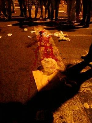 Jovem morreu atropelado em uma manifestação em Ribeirão Preto (Foto: Carol Strabelli/EPTV)