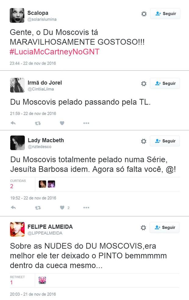 Reações do público ao nu frontal de Eduardo Moscovis na TV (Foto: Twitter / Reprodução)