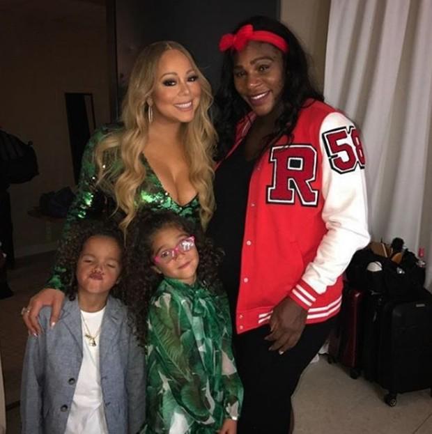 Mariah Carey com os filhos e Serena Williams (Foto: Reprodução/Instagram)