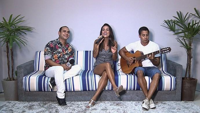 Ju Moraes também trouxe o melhor do samba para o 'Combinado' (Foto: TV Sergipe)