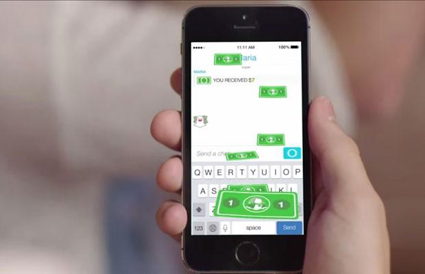 Serviço de envio de dinheiro pelo aplicativo Snapchat, que envia mensagens que somem. (Foto: Reprodução/YouTube)