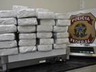 Caminhoneiro é preso com mais de  50 kg de pasta base, em Xexéu