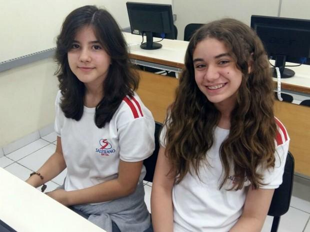 Ana Beatriz e Ruth têm 13 anos e cursam o oitavo ano (Foto: Divulgação/Salesiano São José)