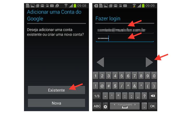 Iniciando o procedimento para adicionar uma nova conta do Google ao Android (Foto: Reprodução/Marvin Costa)
