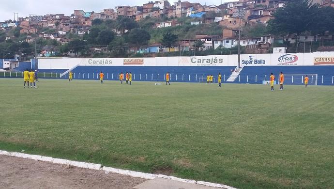 Treino do CSA nesta quarta-feira (Foto: Augusto Oliveira / GloboEsporte.com)