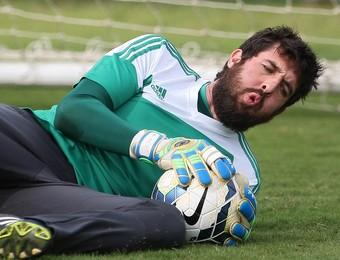 Bruno goleiro Palmeiras barbudo (Foto: Cesar Greco/Ag Palmeiras/Divulgação)