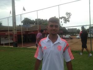 Wallisson, atacante do Flamengo  (Foto: Edson Reis/GloboEsporte.com)