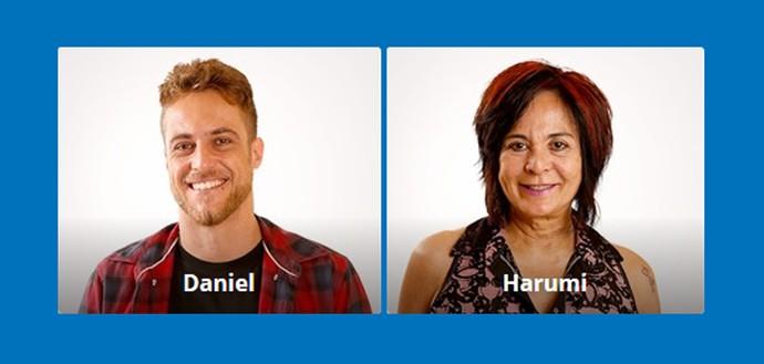 Votação BBB16 - Daniel e Harumi (Foto: Gshow)