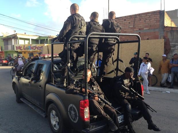 Homens do Bope fizeram parte de operação na região  (Foto: Heitor Moreira/G1)