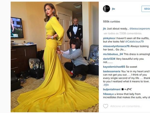 Foto de Jennifer Lopez foi a mais curtida durante Globo de Ouro (Foto: Reprodução/Instagram)