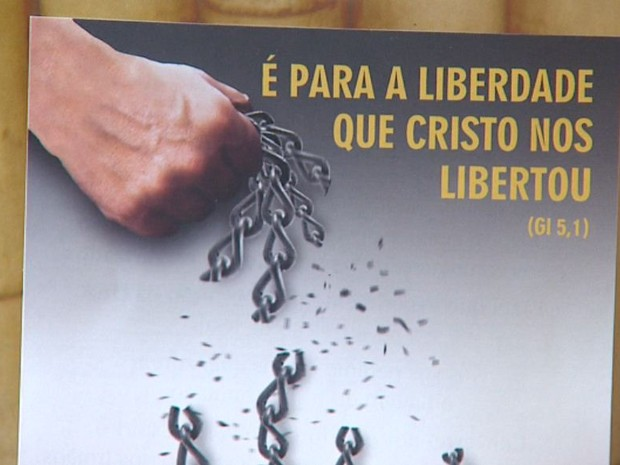 Campanha da Fraternidade 2014 debate o tráfico humano (Foto: Valdinei Malaguti/EPTV)