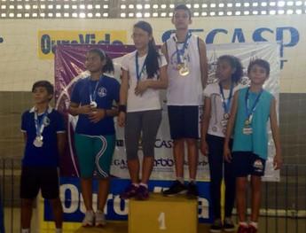 Atletas santarenos ganharam medalhas de ouro na etapa estadual dos Jogos Escolares da Juventude (Foto: Divulgação/ Eliza Marcia Sardinha)