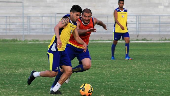 Bismarck, Dudu Medeiros, treinamento, Campinense, Amigão (Foto: Nelsina Vitorino / Jornal da Paraíba)