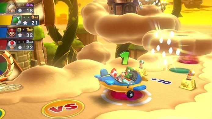 Todos andam juntos pelos tabuleiros de Mario Party 10 (Foto: Thomas Schulze/TechTudo)