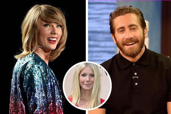 Taylor Swift, Jake Gyllenhaal e Gwyneth Paltrow (Foto: Getty Images)
