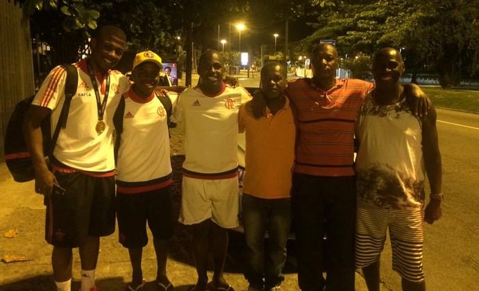 Jogadores Flamengo campeões Copinha Gávea (Foto: Monique Silva)