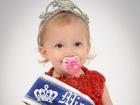 Bebê de SC leva título de mais jovem miss do Brasil, com 1 ano e 4 meses