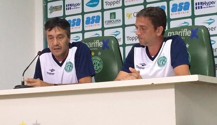 Renato Morungaba e Luis Carlos Cavalheiro análise de desempenho Guarani (Foto: Murilo Borges)