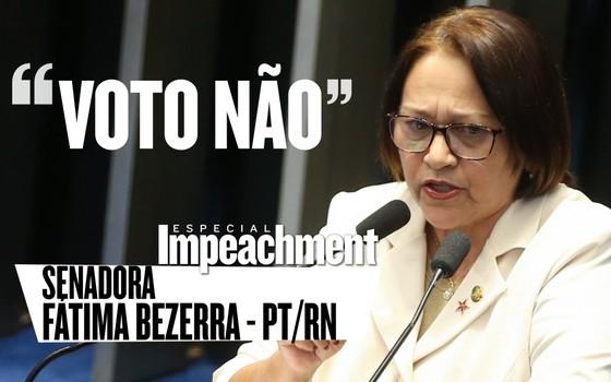 A senadora Fátima Bezerra é contrária ao impeachment de Dilma Rousseff (Foto: EPOCA)