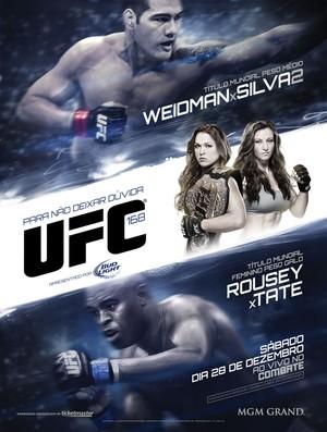 Poster UFC 168  (Foto: Divulgação)