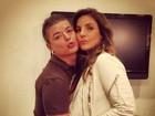 Ivete Sangalo faz biquinho para foto ao lado de David Brazil