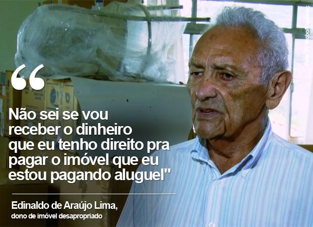 Edinaldo de Araújo Lima linha 6 metrô (Foto: TV Globo/Reprodução)