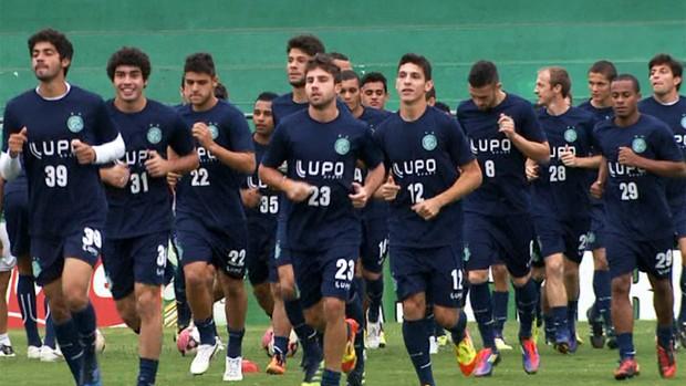 Guarani treina no Brinco de Ouro (Foto: Reprodução / EPTV)