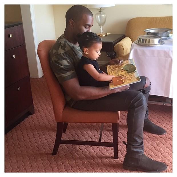Kanye e North (Foto: instagram / reprodução)