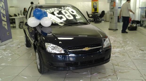 GM faz promoção para alavancar vendas do Classic  (Foto: Aline Magalhães)