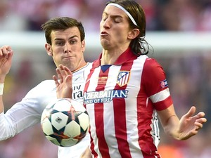 Filipe Luis Real Madrid e Atlético de Madrid (Foto: Agência AFP)