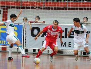 América-RN derrota Goiás e garante RN na Divisão Especial da Taça Brasil de Futsal (Foto: Luciano Bergamaschi/CBFS)