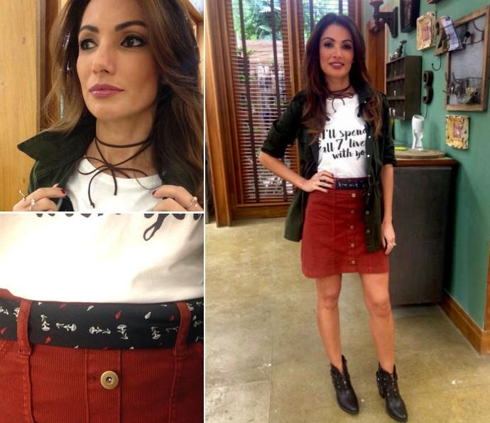 Apresentadora garimpou modelitos em lojas de departamentos (Foto: Carolina Morgado/Gshow)