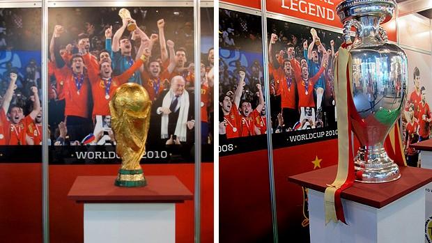 taça eurocopa troféu copa do mundo soccerex (Foto: Cíntia Barlem / Globoesporte.com)