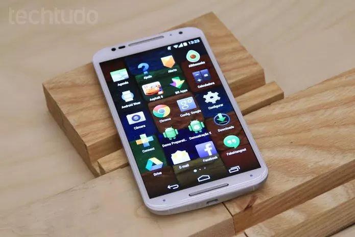Novo Moto X da Motorola tem uma RAM top de linha entre os smartphones (Isadora Díaz/TechTudo) (Foto: Novo Moto X da Motorola tem uma RAM top de linha entre os smartphones (Isadora Díaz/TechTudo))
