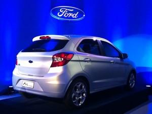 Segundo Joseph R. Hinrichs, presidente da Ford das Américas, o novo Ka terá o menor consumo da categoria e sistema multimídia SYNC (Foto: Luciana de Oliveira / G1)