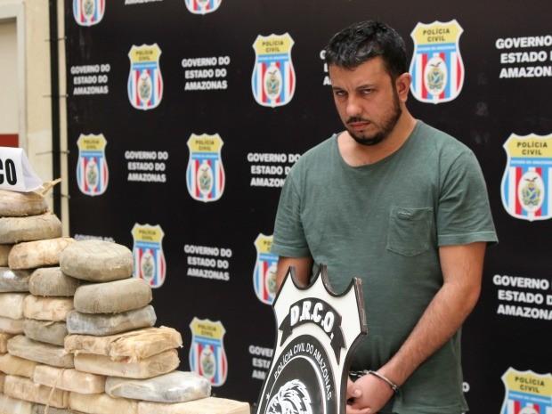 Afonso Celso foi preso em via pública na Zona Oeste de Manaus (Foto: Jamile Alves/G1 AM)