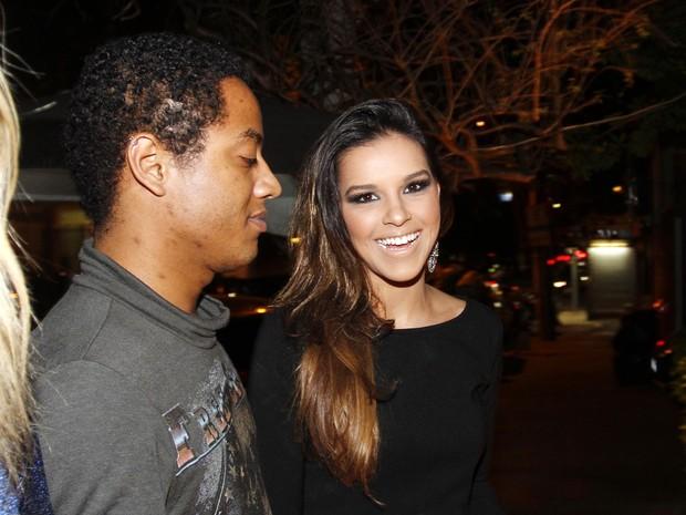 Mariana Rios em restaurante em São Paulo (Foto: Paduardo/ Ag. News)