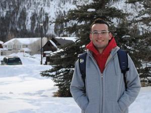 Tiago em Frisco, nos Estados Unidos. (Foto: Tiago Albuquerque / Arquivo Pessoal)