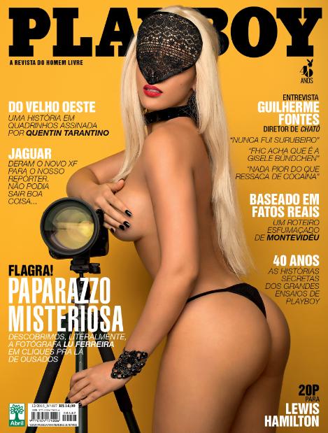 Capa da 'Playboy' de dezembro com a Paparazzo Misteriosa (Foto: Divulgação)