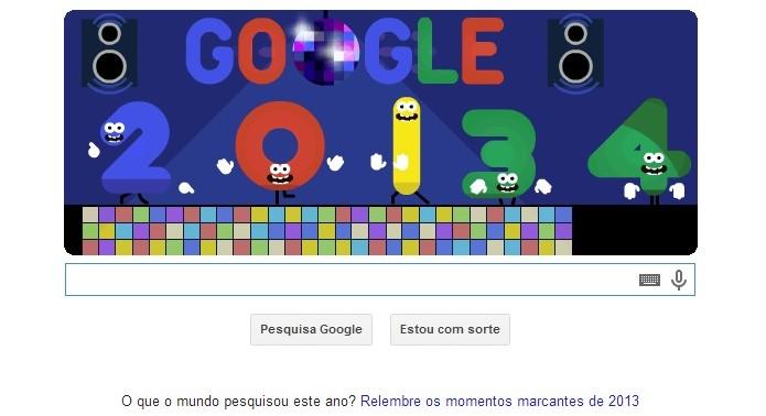 Véspera de Ano Novo é tema de Doodle do Google no Réveillon (Foto: Reprodução/Melissa Cruz)