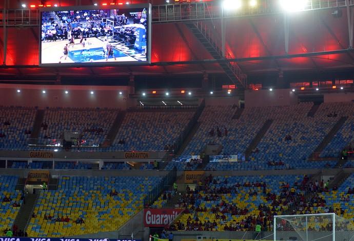 trlão basquete nba maracanã - flamengo x américa-rn (Foto: André Durão)