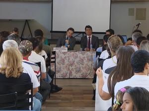 Audiência pública sobre construções às marges do Lago de Furnas (Foto: TV Integração/Reprodução)