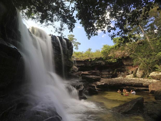 """Cachoeira """"El Cuarzo"""", no Caño Cristales (Foto: Jose Miguel Gomez/Reuters)"""