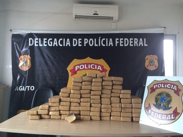 Mais de 100 kg de drogas são apreendidas em Araguaína (Foto: Divulgação/PF-TO)