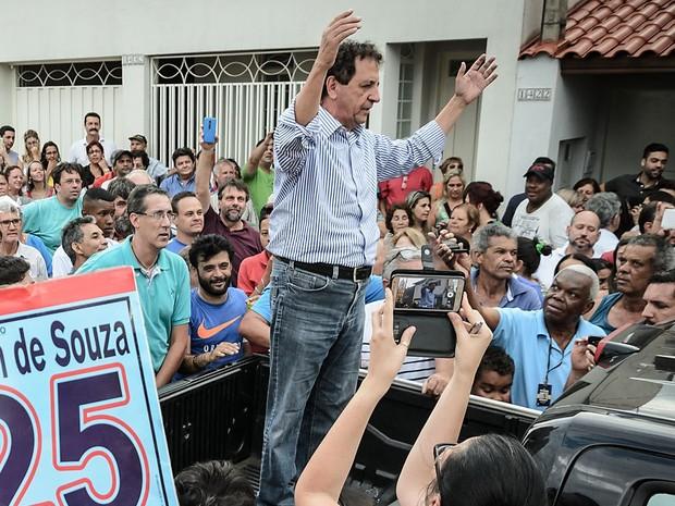 Gilson de Souza, do DEM, é eleito prefeito de Franca, SP (Foto: Igor do Vale/ G1)