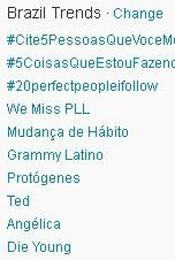 Trending Topics no Brasil às 17h06 (Foto: Reprodução)
