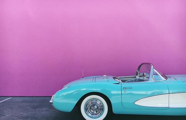 O belíssimo carro de Kendall Jenner  (Foto: Instagram/Reprodução)