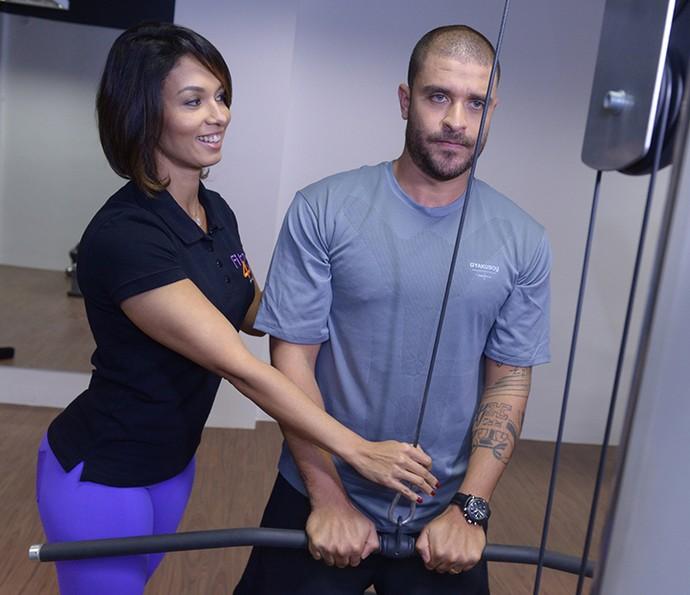 A esposa  de Diogo Nogueira, Milena, ajuda o músico a manter a forma (Foto: Arquivo Pessoal)