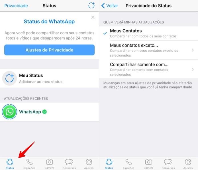 Como Usar O Status Do Whatsapp Com Fotos E Vídeos Que Somem